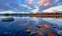 蒂卡波湖黄昏